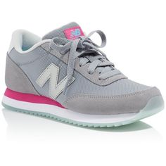 New Balance Ripple Sole Lace Up Sneakers ($70) ❤ liked on Polyvore featuring shoes, sneakers, laced shoes, laced sneakers, new balance footwear, lacing sneakers and retro shoes