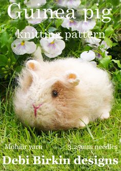 guineapig guinea pig  PDF email toy knitting by BunnyFriends, $3.00