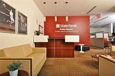 Insurance and financial service office by keita turner, via behance interior ideas, home decor State Farm Office, State Farm Insurance, Union Insurance, Office Insurance, Insurance Agency, Agency Office, Ideas 2017, Marketing Office, Décor Boho