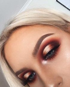 55 Stunning Makeup Ideas for Fall and Winter - makeup looks, wedding makeup, makeup looks for prom, natural makeup looks, wedding makeup looks for - Glam Makeup Look, Fall Makeup Looks, Wedding Makeup Looks, Winter Makeup, Cute Makeup, Bridal Makeup, Autumn Makeup, Makup Looks, Classy Makeup