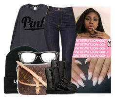"""This for life, baby you should know  "" by naebreezy ❤ liked on Polyvore featuring Victoria's Secret PINK, Casetify, Louis Vuitton, Ray-Ban and UGG Australia"