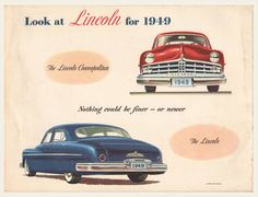 1949 Lincoln Sales Brochure – old brochures