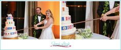 travel themed wedding, bride and groom, Naval Station Norfolk Chapel, Fresh Look Photography, Vivid Expressions, travel wedding, mr and mrs, just married, wedding reception, table scape, cutting the cake