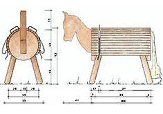 Construction manual Holzpferd not only for vaulting friends - DIY Desk Ideen