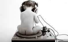 """Is this a childhood story or a drunk story? """"So I was sitting on this turntable naked  entranced by this sweet track and suddenly this guy starts taking pics of me!"""""""