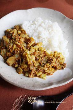 キャベツと挽肉のしっとり無水キーマカレー by tarragon [クックパッド ...