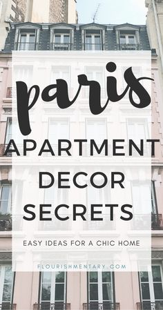 5 Easy Ways To Make Your Home Look Like A Chic Parisian Apartment Want that chic parisian style apartment vibe at home? These simple tricks will help you choose home decor that will give you the french oh la la look you've always wanted! Paris Apartment Decor, French Apartment, Apartment Decorating On A Budget, Parisian Apartment, Paris Apartments, Diy Decorating, French Style Decor, Parisian Chic Style, French Country Bedrooms
