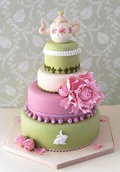cake with a tea pot