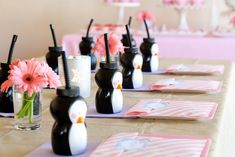 Glorious Treats: Pink and Purple Penguin Party First Birthday Parties, Birthday Party Themes, Girl Birthday, First Birthdays, Birthday Ideas, Winter Birthday, Birthday Cake, Penguin Birthday, Penguin Party