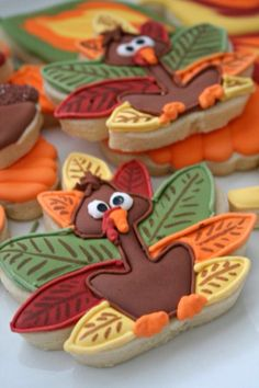 Thanksgiving Day Turkey Shortbread Cookie.
