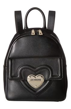 LOVE Moschino Leather Mini Backpack (Black) Backpack Bags - LOVE Moschino, Leather Mini Backpack, JC4328PP03KT0-000, Bags and Luggage Backpack, Backpack, Bag, Bags and Luggage, Gift - Outfit Ideas And Street Style 2017