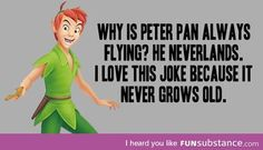 Why is peter always flying?