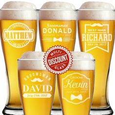 5e195422887 16 Best Personalized Beer Glasses images