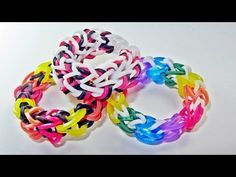 Rainbow Loom DRAGON BONE Bracelet for doll. Designed by kiartist23. Tutorial and looming by DIYMommy. Click photo for YouTube tutorial. 06/13/14.