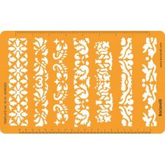 IS16 Design Template Stencil for Jewellery Making Art Craft Drawing and Drafting - Flower Leaves Ornaments and Patterns