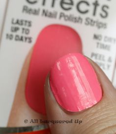 *Sally Hansen Salon Effects 'Real Nail Polish Strips' - Cry Baby /  AllLacqueredUp