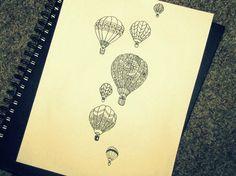 hot air balloons. tattoo inspiration