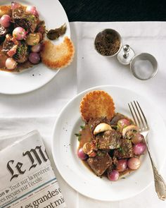 Boeuf Bourguignon_  The beef got its name from the Burgundy Wine where it is braised for three hours.