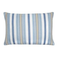 Croyde Stripe Seaspray Cushion