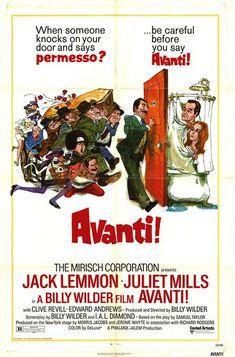"""MP479. """"Avanti!"""" Movie Poster by  Sanford Kossin (Billy Wilder 1972) / #Movieposter"""