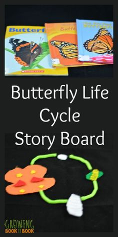 Learn about the life cycle of a butterfly and build language skills at the same time. Insect Activities, Preschool Learning Activities, Play Based Learning, Preschool Science, Language Activities, Science For Kids, Fun Learning, Preschool Activities, Toddler Learning