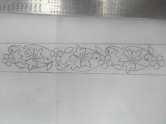 Zardozi Embroidery, Embroidery Applique, Floral Embroidery, Embroidery Patterns, Print Patterns, Border Design, Lace Design, Pattern Design, Border Embroidery Designs