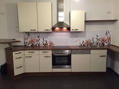 ansicht-innovation-fototapete-küchenrückwand-mit-waldbild-für ... - Küchenspiegel Mit Fototapete