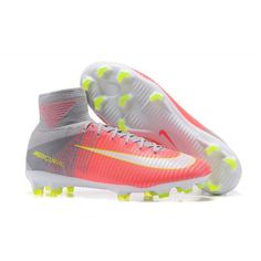 2017 Nike Mercurial Superfly V FG Botas De Futbol Rosa Gris 13fc970c90a18