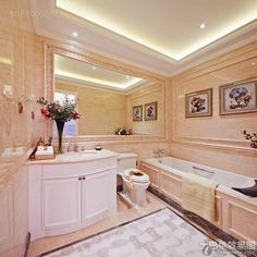 French luxury fashion bathroom decoration pictures