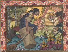 "Boris Zworykin. Illustration from a fairy tale ""Vasilisa the Beautiful"", the French edition, 1925."