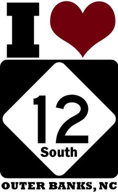 I <3 NC 12 South :: Outer Banks of North Carolina