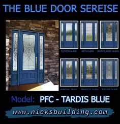 WOW!! A Navy Blue Front Door looks so beautful! This blue front door is so pretty!  Blue doors are the newest trend Wood Front Doors, Exterior Front Doors, Entrance Doors, Wooden Doors, Garage Doors, Tardis Blue, Doors Online, Interior And Exterior, Blue Doors