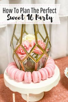 33725b881497 How to plan the perfect Sweet 16 party. Pink and gold Sweet 16 party ideas