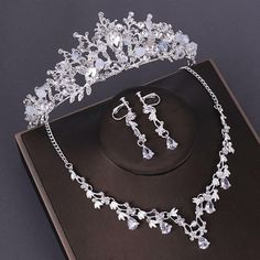 Prom Jewelry, Wedding Jewelry Sets, Engagement Jewelry, Crystal Jewelry, Crystal Beads, Wedding Engagement, Jewellery, Crystal Crown, Costume Jewelry Sets