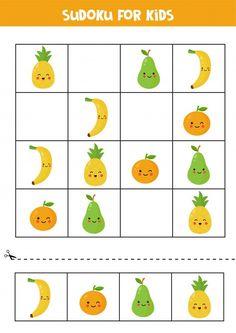 Puzzles For Kids, Worksheets For Kids, Vegetable Cartoon, Cartoon Vegetables, Kawaii Fruit, Educational Games For Kids, Printable Christmas Cards, Woodland Nursery Decor, Baby Deer