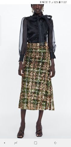 6f684672c6 ZARA Limited Edition Sequinned Skirt SOLD OUT SIZE L ! BNWT RRP 95.99   fashion