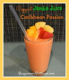 Copycat Jamba Juice Caribbean Passion Smoothie Recipe! Bargains with Brittanie