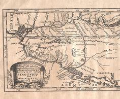 El Curso del río de las Amazonas, basado en el informe de Christopher d'Acugna
