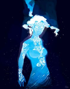 Korra and Raava: The Cosmic State by finalmix13 on DeviantArt