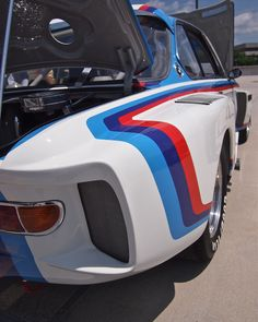 BMW 3.5 CSL Group5 Replica wide body side extractor detail. Pic by: Joe Danon