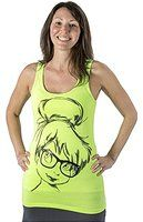 Disney Juniors Tinkerbell Hipster Tank-top Neon Green