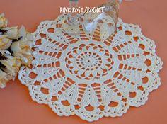 PINK ROSE CROCHET: Centrinho Sunny Morning Doily