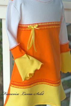 Candy Corn Dress - Long Sleeves