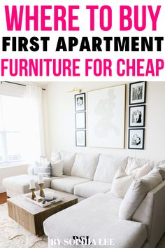 OMG I was so nervous about how much money I was going to spend on my first apartment furniture and this helped me so much with finding cheap furniture that looks GOOD. #firstapartment #apartmentfurniture College Apartment Bathroom, First Apartment Checklist, First Apartment Essentials, Apartment Hacks, Apartment Furniture, Apartment Living, Living Room, 1st Apartment, Apartment Kitchen