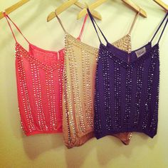 studded tank tops!