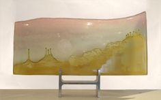 """Série Fungus: Arizona (2014) // Verre émaillé et cire perdue, 50 x 25 cm / Enamelled glass and lost wax, 20""""x 10"""""""