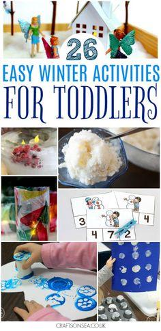 EASY WINTER ACTIVITIES FOR TODDLERS #winter #winteractivities #toddler #eyfs