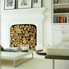 Decorating Your Home with Modern Victorian Style: Modern Victorian Living Room Unused Fireplace, White Fireplace, Faux Fireplace, Fireplace Design, Fireplaces, Fireplace Ideas, Fireplace Filler, Decorative Fireplace, Victorian Fireplace