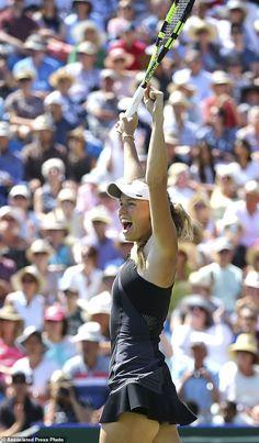 Wozniacki beats Sabalenka for Eastbourne title Australian Open, Caroline Wozniacki Tennis, Blond, Celebs Go Dating, Female Athletes, Women Athletes, Sports Advertising, Tennis Photos, Tennis Players Female