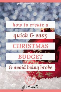 Enjoy a great Christmas on a budget with your family without going broke later on or worrying about it now. Here is how to create a budget. Ways To Save Money, Money Saving Tips, Best Budgeting Tools, Household Budget, Managing Money, Christmas On A Budget, Create A Budget, Early Retirement, Financial Literacy